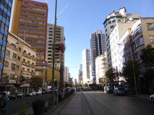 Modern downtown street