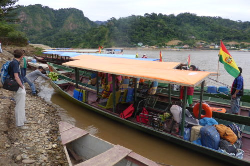 Boat to Madidi Jungle Lodge