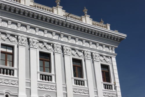 One of many white colonial buildings inSucre